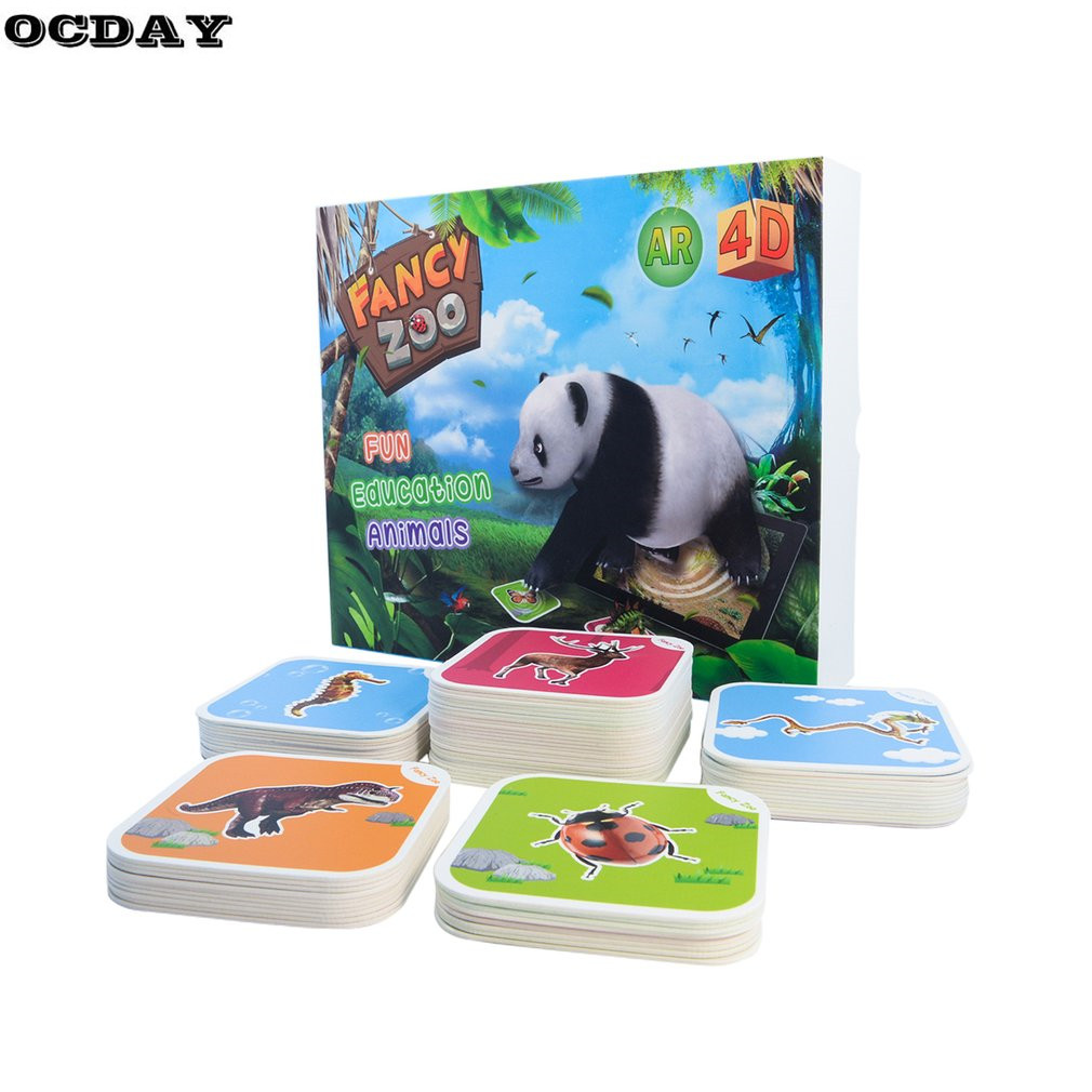 3D Card AR Book Preschool Vocal Charts Voice Sounding Board Grasping Kids Intelligence Development Learning Literacy Cards