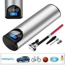 Bomba de ar portátil de 150psi, multifuncional, recarregável, para bicicleta e carro, compressor de ar, sem fio, digital, inflador de pneus