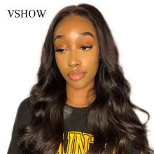 VSHOW 13x4 Lace Front Human Hair Wigs 150 Density 13x6 Brazilian Remy Body Wave Wig Pre Plucked With Baby