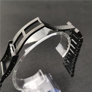Image 5 - Correas de reloj de acero inoxidable y bisel, pulsera de reloj apta para reloj serie DW5600 GW M5610 GW5000, con herramientas al por mayor