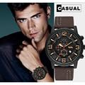 Militär Uhr Männer 2020 Neue Herren Uhren Top Brand Luxus Quarzuhr Casual Leder Sport Wasserdichte Uhr Relogio Masculino