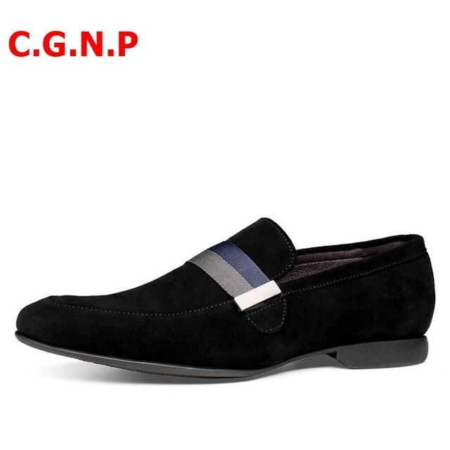 Фото лоферы мужские замшевые повседневная обувь ручной работы кожаные