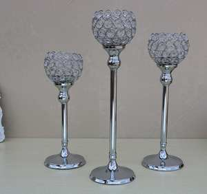 Candle-Holders Candlesticks-Stand Centerpieces Crystal Tealight Halloween-Decoration