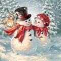 5d алмазная картина, полная дрель, квадратный Санта-Клаус, снеговик бриллианты вышивка стразы, картина, мозаика, Рождественское украшение
