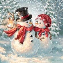 5d pintura diamante broca completa quadrado papai noel boneco de neve diamante bordado strass imagem mosaico decoração natal