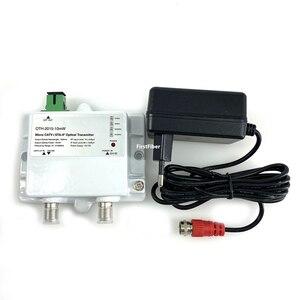 Image 2 - Micro trasmettitore ottico 10mW 47 2150MHz 1310nm 1550nm di singolo modo 12V DC del trasmettitore FTTH CATV + Micro fibra ottica 10mW 47 MHz