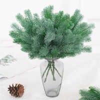 16 tenedor plantas artificiales ramas de pino árbol de Navidad decoraciones de boda DIY artesanía accesorios niños ramo de regalo