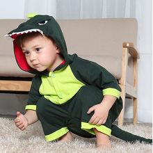 Летняя Детская Пижама с животными динозавров комбинезон мультипликационным
