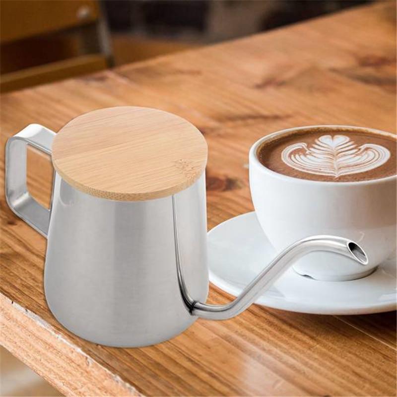350 мл длинный узкий носик, кофейник, гусиная шея, чайник из нержавеющей стали, ручной капельный чайник для кофе и чая с деревянной крышкой|Кофейники|   | АлиЭкспресс - Чай вдвоем
