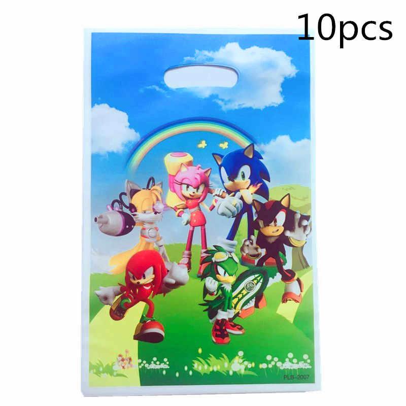 10pcs Sonic The Hedgehog Theme Gifts Bag Boy Birthday Decoration Loot Bag Cartoon Popcorn Candy Box Baby Shower Balloon Gift Box Aliexpress