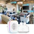 Inteligente Tomada Elétrica Plug UE Wifi Tomada Inteligente Wifi Controle de Voz Controle Ajuste Inicial do Google Mini Alexa Ifttt DIODO EMISSOR de Luz
