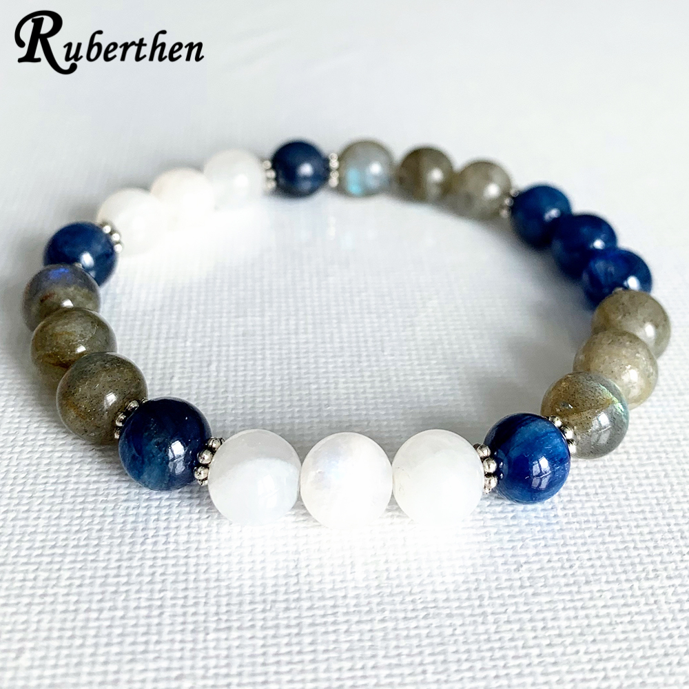 "Bleu 6-14 mm Naturel Apatite Round Beads Gems Colliers 18/"" AAA"