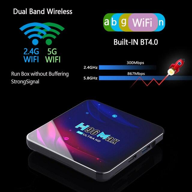 H96 Smart TV Box Android 11 4K Hd Youtube Google Play 5G Wifi Bluetooth Receiver Media Player HDR USB 3.0 4G 32Gb 64Gb Tv Box 3