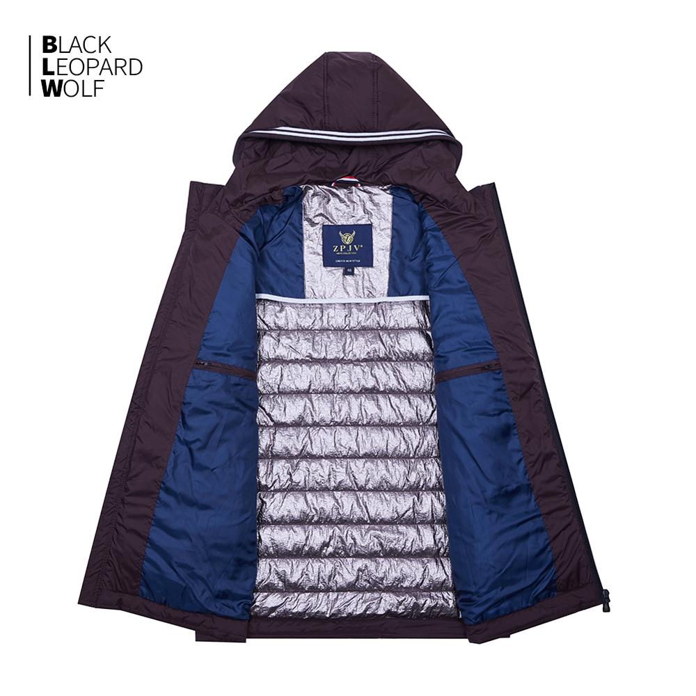 Blackleopardwolf 2019 new arrival spring down jacket high quality thick cotton balck color duck down jacket spring coat ZC-C5612 3