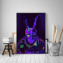 Hot Donnie Darko Classic Horror Movie Film Character Poster Art Light Canvas Home Room Wall Printing Decor