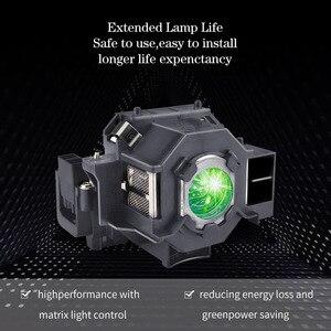 Image 2 - متوافق مع EMP S5 EMP S52 EMP T5 EMP X5 EMP X52 EMP S6 EMP X6 + مصباح بروجيكتور ELPLP41 V13H010L41 لإبسون