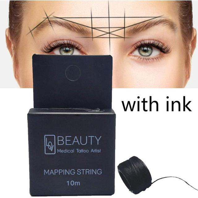 Mapping Pre-ink String For Microblading Eyebow Makeup Dyeing Liners Thread Semi Permanent Positioning Eyebrow Measuring Tool