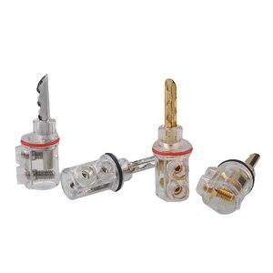 Image 5 - Xangsane 8 adet yüksek performanslı saf bakır altın kaplama muz kilit fiş HiFi hoparlör muz konnektörleri 8mm