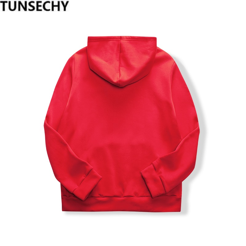19 women's long-sleeved plain hooded sweatshirt plain multi-color men's and women's casual pullover hoodie 19