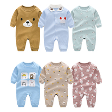Andy Papa New Come Baby Rompers Toddler Girls Newborn 0-12M Jumpsuits Kids Autumn Sleepwear Bodysuit Cotton Costumes For Infants