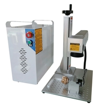 split Raycus Fiber Laser Marking Machine 30W Rotary included Metal Engraving
