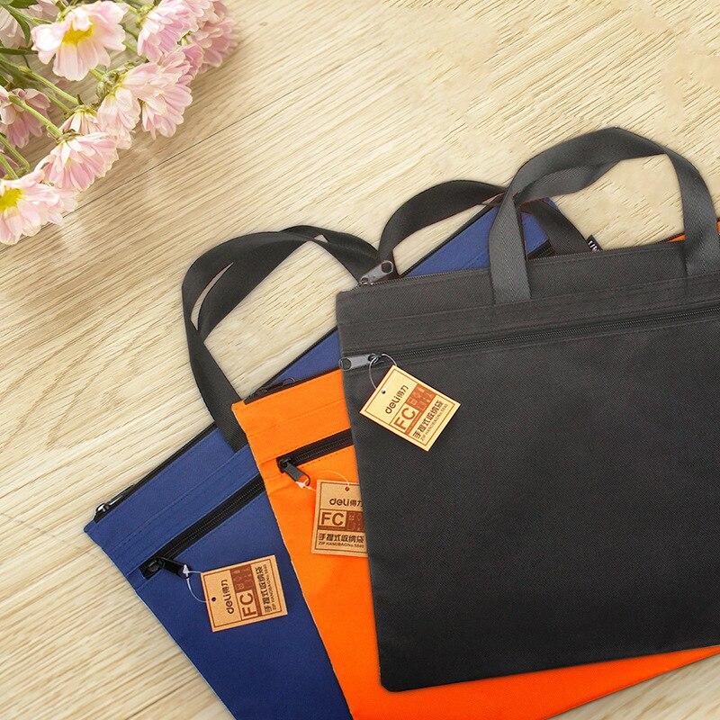 Handbag Large Capacity A4 Document Zipper Bag Men's And Women's Canvas Handbag Storage Bag
