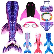 7 Colors Classic Mermaid Tails Costume Mermaid Tails For Swimming Girls Swimsuit Easy add Monofin Garland Goggles