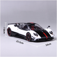 Diecast car 1:18 Scale Pagani Huayra Ghost of the Son Car Vehicles Model Toy cars 1/18 car for Kids toys