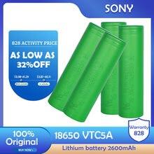 100% original sony vtc5a 3.7v 2600mah 18650 bateria de lítio li-ion recarregável para lanterna farol ferramentas brinquedos e-cigarro