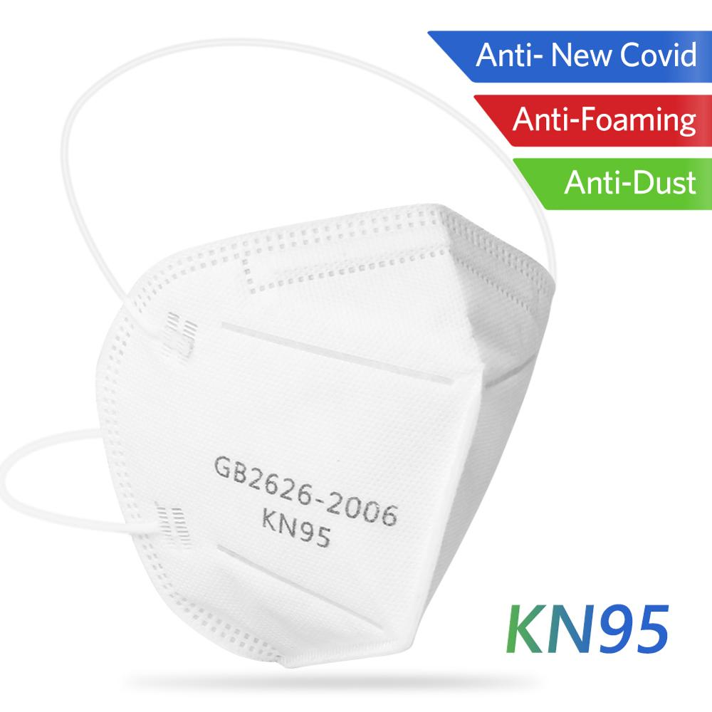 10Pcs KN95 Antiviral Face Mask  Bacteria Proof Anti Dust Masks PM2.5 Dustproof KN95 Mouth Muffle Cover