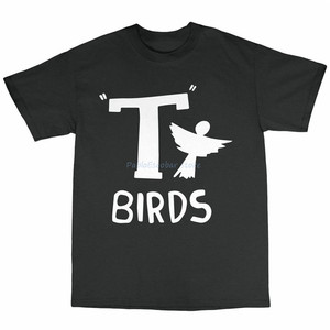 T-птицы футболка 100 хлопок Danny Zucco Джон Траволта в стиле Оливии Ньютон Джон Harajuku футболка