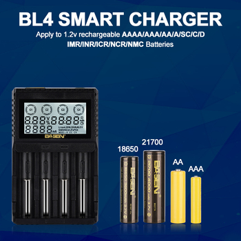 18650 Battery Smart Charger LCD 3.7V/3.7V/3.85v Support AA/AAA Li-ion4.20V LiFePO4 35V With Wall Charger 12v/2A Adapter