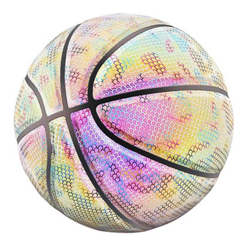 Glowing Reflective Basketball Night Colorful Wear-Resistant Basketball Sports Ball ZJ55