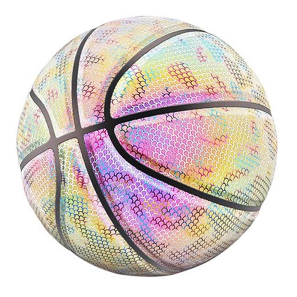 Glowing Reflective Basketball Night Colorful Wear-Resistant Basketball Sports Ball ZJ55