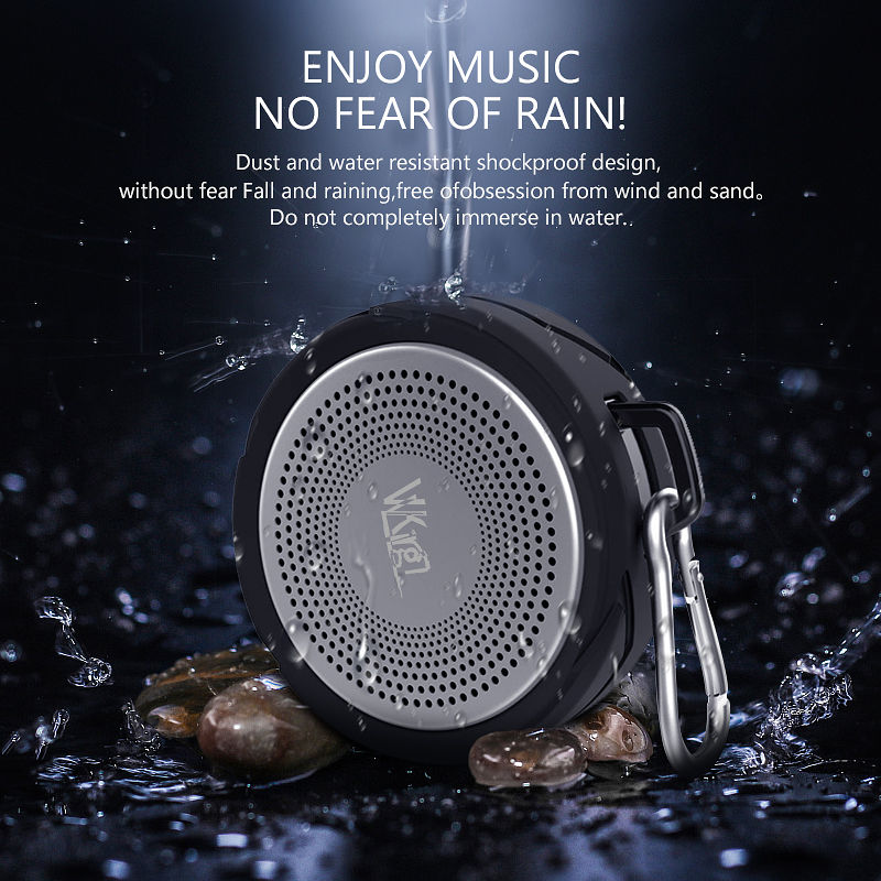 Image 2 - VVKing Wireless Bluetooth Speaker Outdoor Portable altavoz Stereo With Mic Loudspeaker IPX6 Waterproof High Quality Speaker Bass-in Portable Speakers from Consumer Electronics