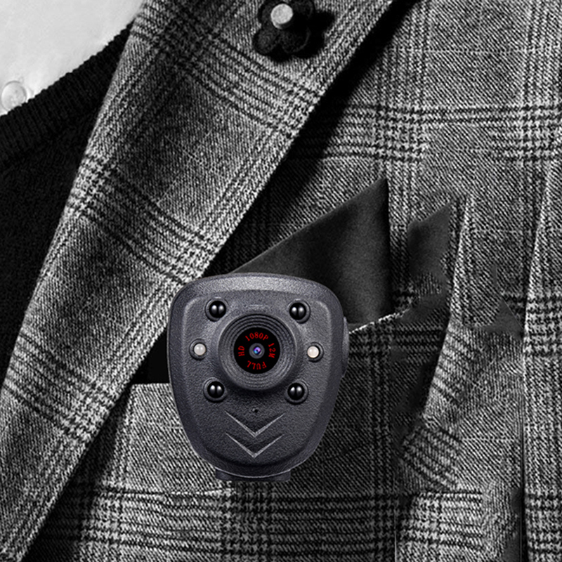H33bff62746e645a5b65ccfde07f92ea6O HD 1080P Police Body Lapel Worn Video Camera DVR IR Night Visible LED Light Cam 4-hour Record Digital Mini DV Recorder Voice 16G