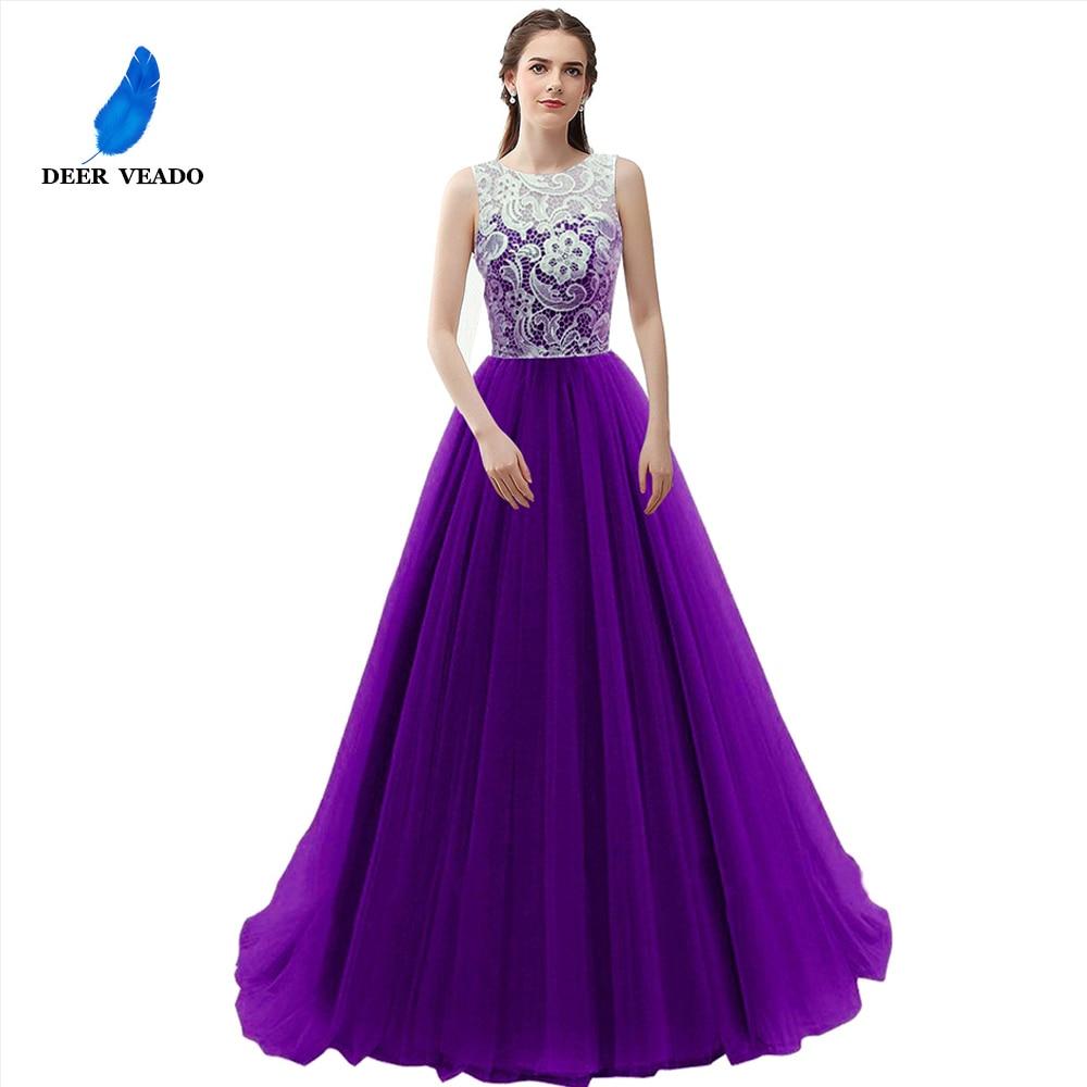 Image 2 - DEERVEADO Elegant Lace Royal Blue Evening Dress Bridal Bouquet  Dresses Evening Gown Formal Dress Robe De Soiree Longue S304robe de  soiree longueroyal blue eveninggown formal