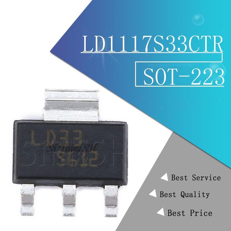 10pcs LD1117S33CTR SOT-223 LD1117S33 SOT223 LD33 IC REG LDO 3.3V 950MA