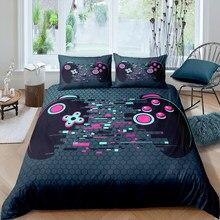3d impresso roupa de cama gamer têxteis para casa dos desenhos animados gamepad jogo cama colorido capa edredão aquarela