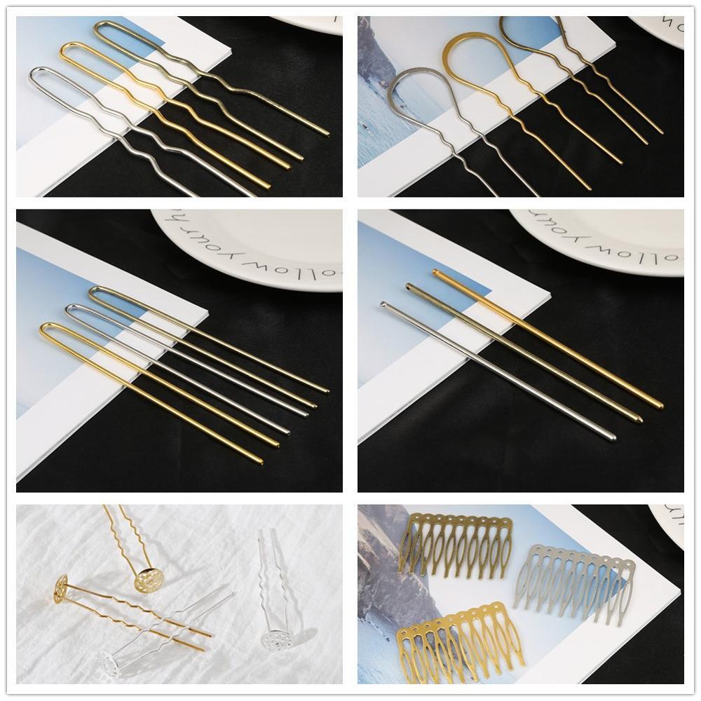 70*20mm Brass U shape Hairpin metal hair fork Hair Stick hair findings 10pcs