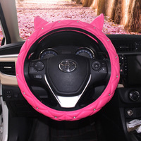 Cat Ears Car Steering Wheel Cover Diamond Set Car for Grip Cover Women's Super Meng Four Seasons Universal Cute Car Grip Cover