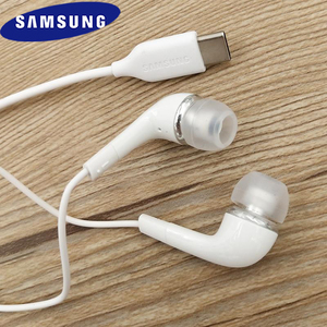 Samsung S20 Type C Earphones In-ear Wired Mic Volume Control USB-C Headset for Galaxy S20 Plus S20Ultra A8S Note 10 10+ A90 Mi10(China)