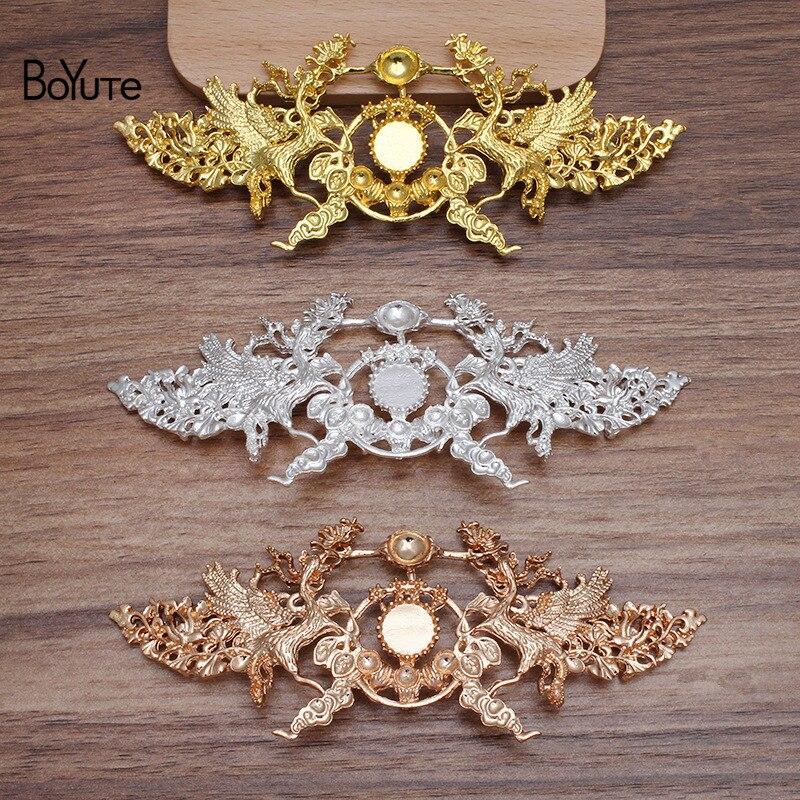BoYuTe (10 Stücke/Los) 51*129MM Metall Legierung Materialien Fabrik Direkt Verkauf DIY Handgemachte Haar Schmuck Zubehör