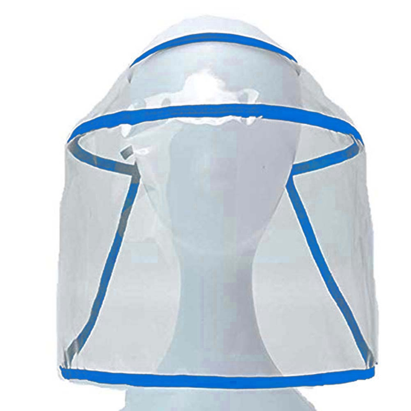 Protective Hat Safety Cap Dustproof Windproof Removable Anti-fog Saliva Multi-function Transparent Face Cover Shield