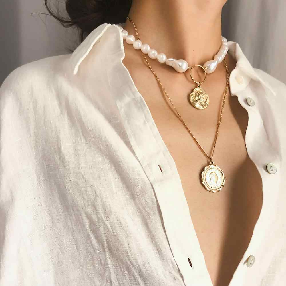 collier femme baroque