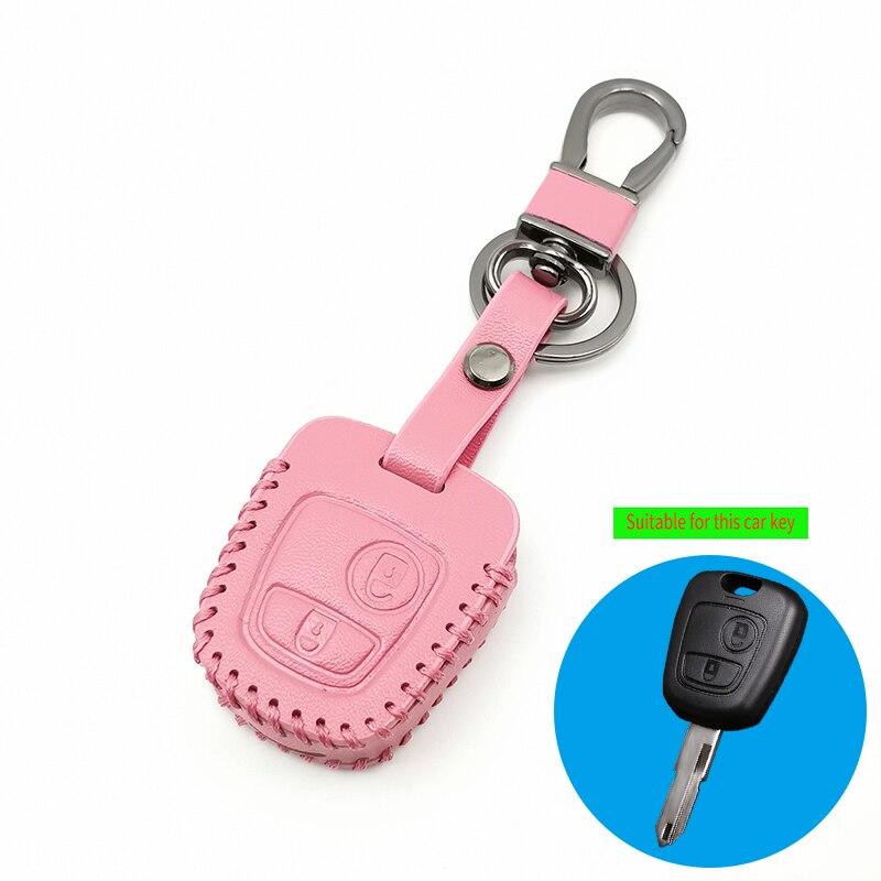 Capa reta de chave de 2 botões para peugeot, 107, 206, 307, 207 e 408, para citroen c2, c3, c4, xsara, picasso berlingo para toyota aygo reta