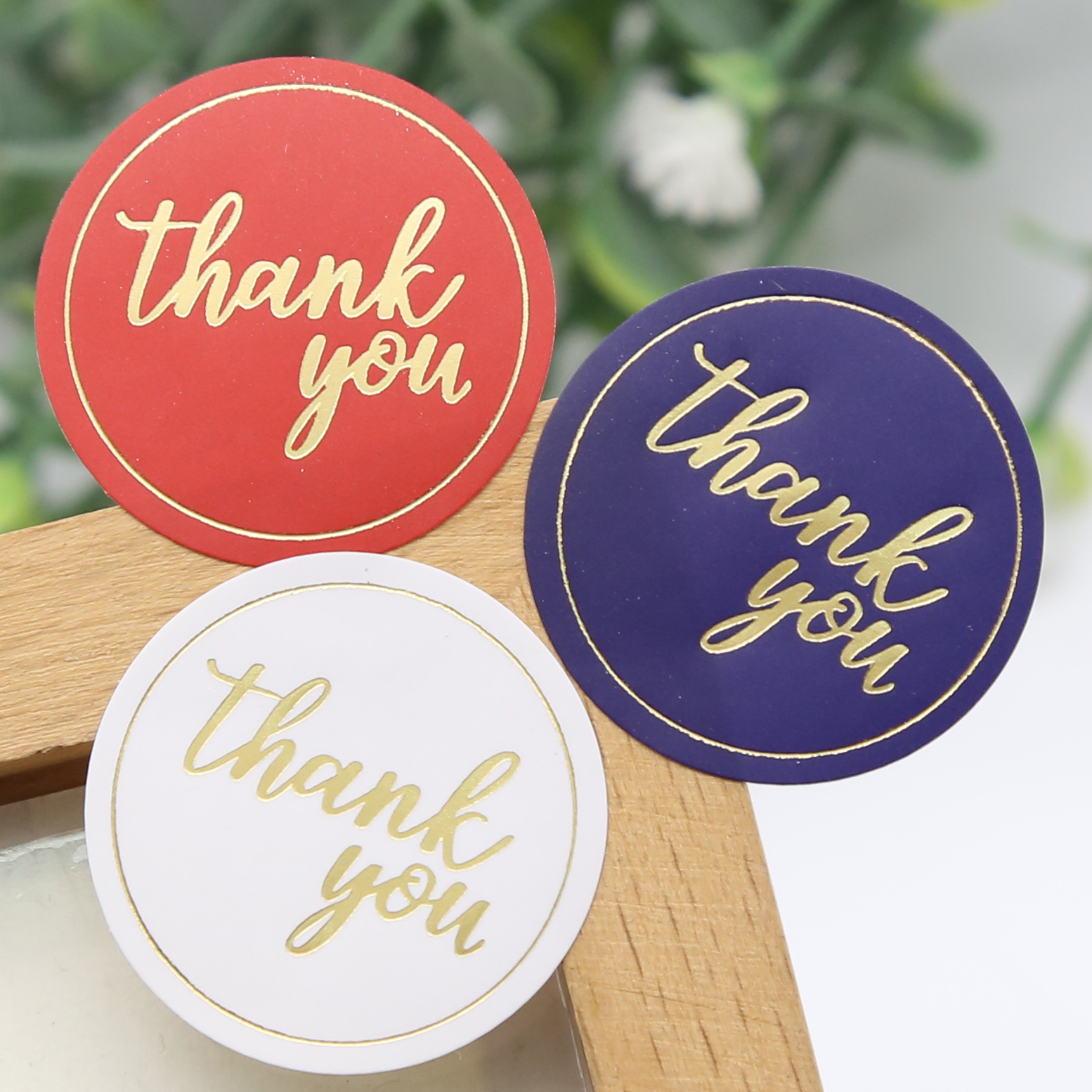 100pcs/lot  Round Simple Thank You  Stickers Gift Package 2.8cm Lable For DIY Seal Sticker(ss-1500)