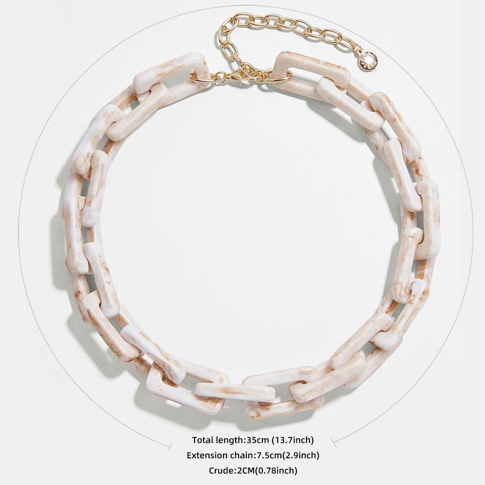 Купить ожерелье женское массивное из акриловой смолы в стиле панк/хип