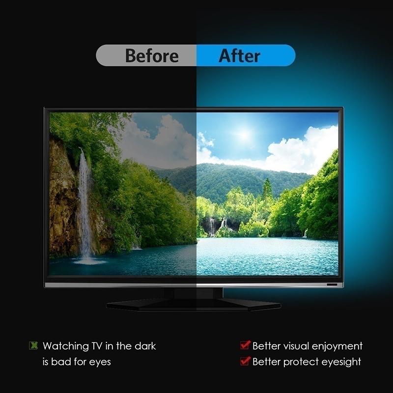 H33c0933f2a174d7f83cded43c6bae0e5r - 5V USB TV LED Strip Light Lamp Tape 3528 SMD Diode Flexible HDTV TV Desktop Screen Backlight Decor RGB Bias Lighting 0.5M/1M