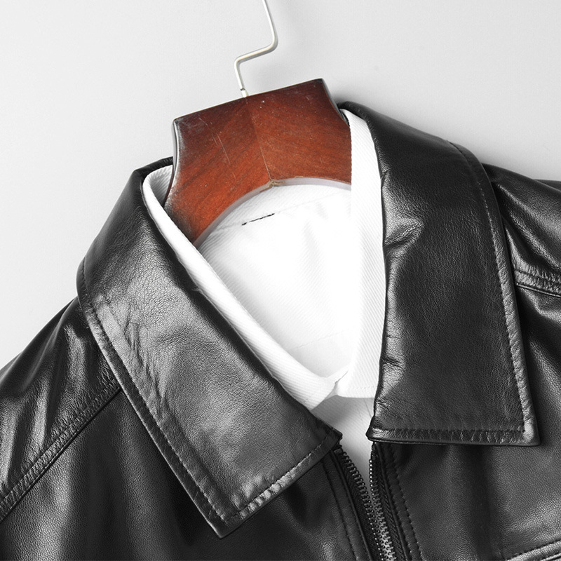 Men Goatskin Coat Autumn Genuine Leather Jacket Natural Leather Blazer Jackets Chaqueta Cuero Hombre 81Y8107 YY255